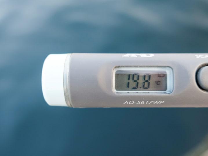 海水温は約19.8度