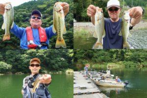 2020年8月下旬七色ダムバス釣り大会|夏の数釣りヒットパターンとルアーを紹介