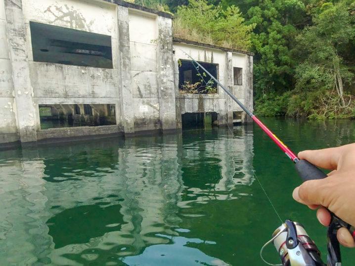 たけと&キャノピーさんの七色ダムでのバス釣り様子2