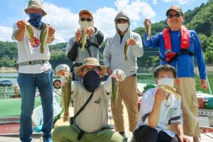 2020年9月上旬一庫ダムにてレンタルボートでバス釣り|6人の釣りをまとめて分かったヒットパターンとは