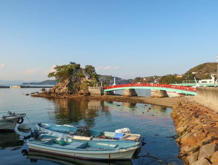 夕方の坊勢島に到着