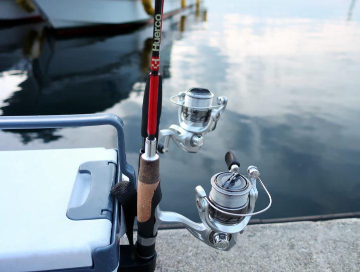 日が暮れてきたので釣り開始2