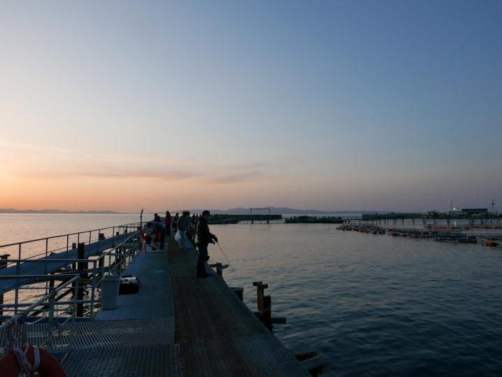 小島養漁場Aポイント周辺