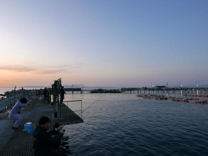 小島養漁場Bポイント周辺