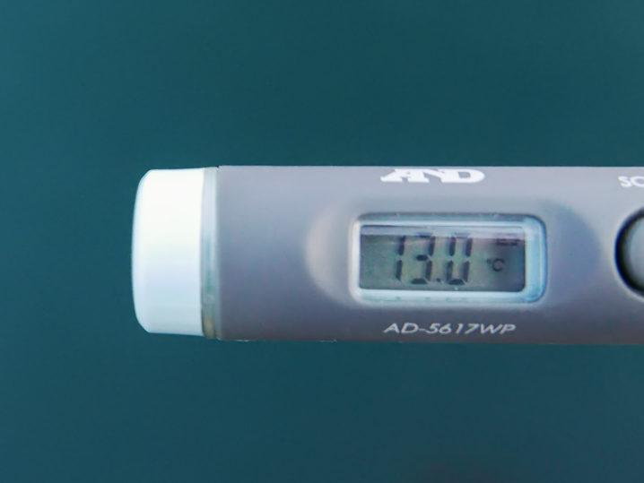 海水温は約13.0度