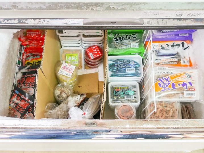 オーパ!!は冷凍系のエサ揃えは豊富2