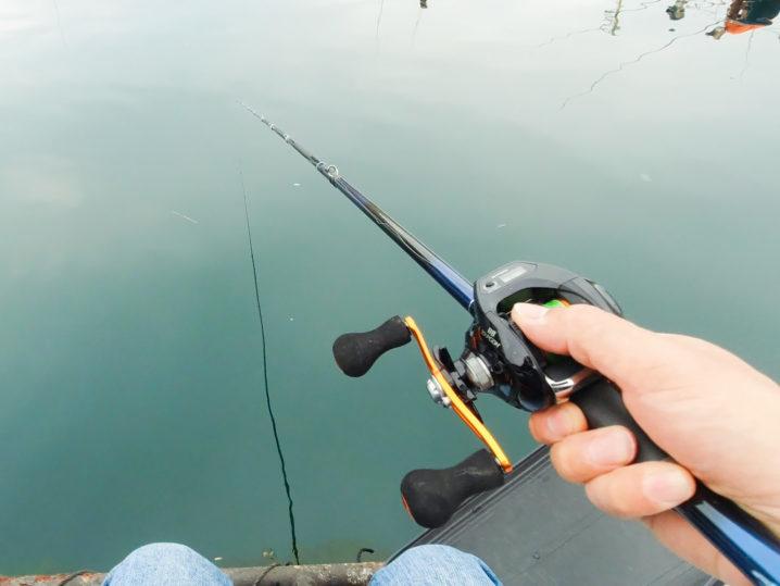 今回使用するロッドは【釣りおじさん仕様の試作脈釣りロッド】